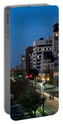 Wichita Skyline At Dusk From Waterwalk Portable Battery Charger