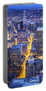Wide Seattle Cityscape Portable Battery Charger