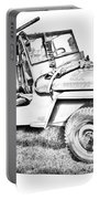 Willys World War Two Army Jeep Illustration Portable Battery Charger