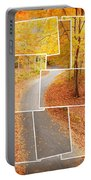 Winding Alley In Fall Portable Battery Charger