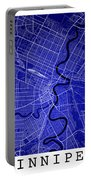 Winnipeg Street Map - Winnipeg Canada Road Map Art On Colored Ba Portable Battery Charger