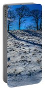 Winter Scinery In The Mountains With Bllue Sky And Sunshine Portable Battery Charger