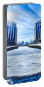 Winter Street Scenes Around Piedmont Town Centre Charlotte Nc Portable Battery Charger