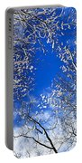 Winter Trees And Blue Sky Portable Battery Charger