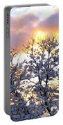 Wintry Sunset Portable Battery Charger by Will Borden