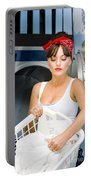 Woman Washing Clothes Portable Battery Charger