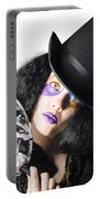 Woman With Mask Portable Battery Charger