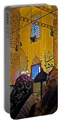 Women At Rumi's Mausoleum In Konya-turkey  Portable Battery Charger