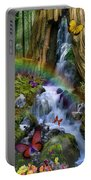 Woodland Forest Fairyland Portable Battery Charger by Alixandra Mullins