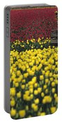 Worker Carrying Tulips Portable Battery Charger