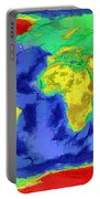 World Map Art Portable Battery Charger