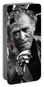 Writer Charles Bukowski On Tv Show Apostrophes In September 1978-2013 Portable Battery Charger