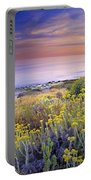 Yellow Flowers At The Sea Portable Battery Charger