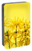 Yellow Forsythia Flowers Portable Battery Charger