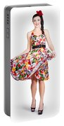 Young Beautiful Dancer Posing On White Background Portable Battery Charger