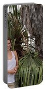 Young Couple Palm Tree Portable Battery Charger