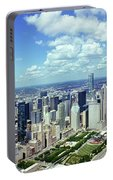 Aerial View Of A City, Chicago, Cook Portable Battery Charger