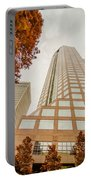 Charlotte City Skyline Autumn Season Portable Battery Charger