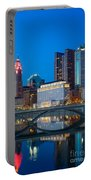 Fx2l-516 Columbus Ohio Night Skyline Photo Portable Battery Charger
