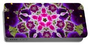 Flower Kaleidoscope Resembling A Mandala Portable Battery Charger