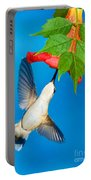 Ruby Throated Hummingbird Female Portable Battery Charger