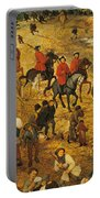 Ascent To Calvary, By Pieter Bruegel Portable Battery Charger