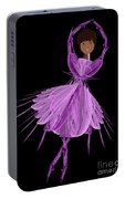 11 Purple Ballerina Portable Battery Charger