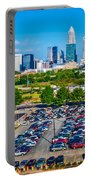 Skyline Of Uptown Charlotte North Carolina Portable Battery Charger