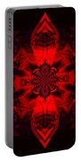 1107 - Mandala Red   Portable Battery Charger