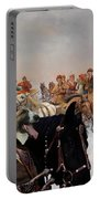 Borzoi - Russian Wolfhound Art Canvas Print Portable Battery Charger