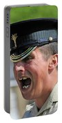 1st Battalion Welsh Guards On The Drill Portable Battery Charger by Andrew Chittock