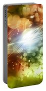 Abstract Background Portable Battery Charger by Les Cunliffe