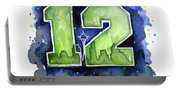 12th Man Seahawks Art Seattle Go Hawks Portable Battery Charger