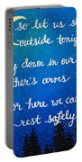 12x16 Dmb So Let Us Sleep Outside Tonight Portable Battery Charger