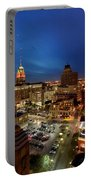 High Angle View Of Buildings Lit Portable Battery Charger