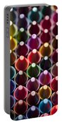 Rows Of Multicolored Crayons  Portable Battery Charger