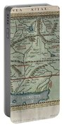 1597 Ptolemy  Magini  Keschedt Map Of Pakistan Iran And Afghanistan Portable Battery Charger by Paul Fearn