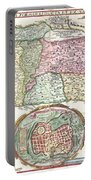 1632 Tirinus Map Of The Holy Land Portable Battery Charger