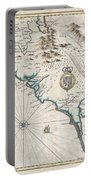 1676 John Speed Map Of Carolina Portable Battery Charger by Paul Fearn