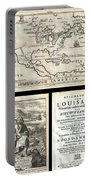 1688 Hennepin First Book And Map Of North America Portable Battery Charger