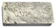 1690 Coronelli Map Of Montenegro Portable Battery Charger