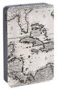 1696 Danckerts Map Of Florida The West Indies And The Caribbean Portable Battery Charger