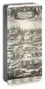 1697 Pufendorf View Of Krakow Cracow Poland Portable Battery Charger