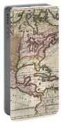 1698 Louis Hennepin Map Of North America Portable Battery Charger by Paul Fearn