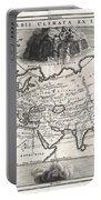 1700 Cellarius Map Of Asia Europe And Africa According To Strabo Portable Battery Charger