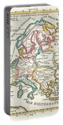 1706 De La Feuille Map Of Europe Portable Battery Charger