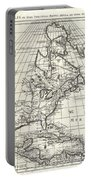 1708 De Lisle Map Of North America Portable Battery Charger