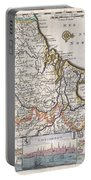 1710 De La Feuille Map Of The Netherlands Belgium And Luxembourg  Portable Battery Charger