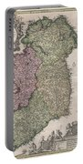 1716 Homann Map Of Ireland Portable Battery Charger