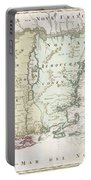 1716 Homann Map Of New England Portable Battery Charger